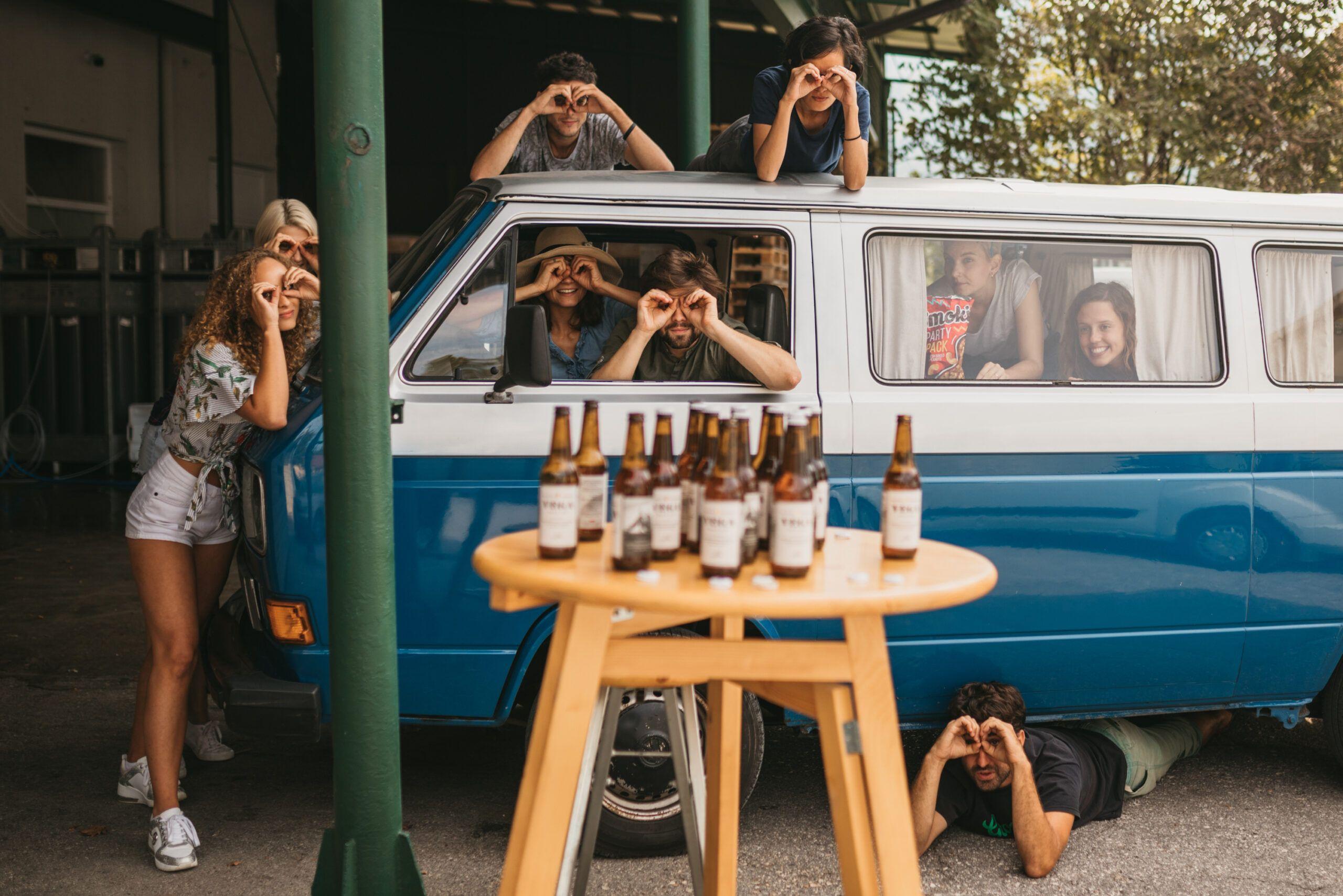 brewery tour slovenia with retro van
